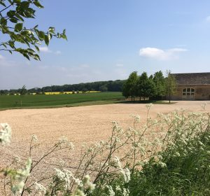Countryside views are enjoyed by barn wedding venues
