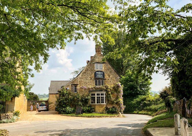 The beautiful exterior of The Ebrington Arms