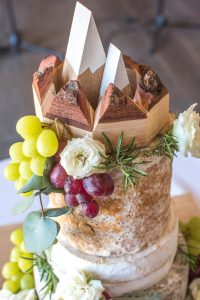 Alpine inspired topper for the cheese wedding cake