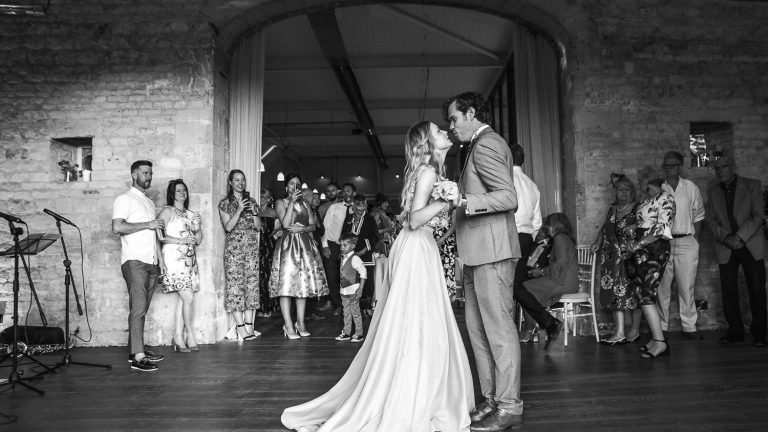 The bride and groom's first dance. Photography: Rachel Jones Photography