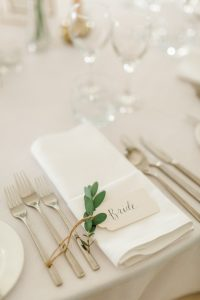 Table setting for the bride